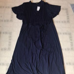 Suzanne Betro New with Tags Navy wrap Dress